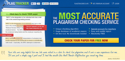 plagiarism tracker duplicate check service