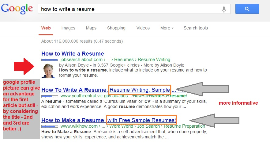 best way to write resumes